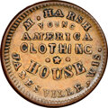Civil War Merchants, 1863 Token M. Harsh Clothing, Janesville, WI., Fuld-300E-1a, AU58 NGC. The eagle is almost never sharp on this issue, and t...