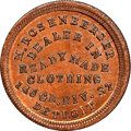 Civil War Merchants, 1863 Token M. Rosenberger, Detroit, MI., Fuld-225BM-3a, MS66 Red and Brown NGC. Beautifully preserved and satiny, yielding ...