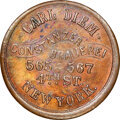 Civil War Merchants, (1861-65) Token Carl Diem, New York, NY., Fuld-630U-1a1, R.3, -- Bent -- NGC Details. Unc. ...