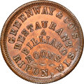 Civil War Merchants, (1861-65) Token Greenway & Co, Fuld-720A-1a, -- Cleaned -- NGC Details. Unc. Ripon, WI....
