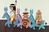 Mary Blair - Contemporary Hotel Personally Owned Serigraph Proof Copy (Walt Disney, c. 1970s)