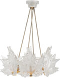 Lighting, Lalique Clear and Frosted Glass and Metal Champs-Élysées Chandelier, post-1945. Marks: Lalique, France. 26-1...