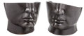 Furniture, A Pair of Art Moderne Black Marble Face Chairs, 20th century. 26-1/2 x 27-1/2 x 28 inches (67.3 x 69.9 x 71.1 cm). ... (Total: 2 Items)