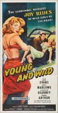 """Young and Wild (Republic, 1958). Folded, Fine/Very Fine. Three Sheet (41"""" X 79.5""""). Bad Girl"""