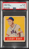 Baseball Cards:Singles (1940-1949), 1948 Leaf Larry Doby Rookie #138 PSA NM-MT 8 - None Higher! ...