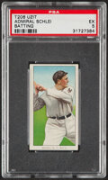 Baseball Cards:Singles (Pre-1930), 1909-11 T206 Uzit Admiral Schlei (Batting) PSA EX 5 - Pop One, One Higher For Brand! ...