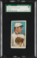 Baseball Cards:Singles (Pre-1930), 1909-11 T206 Lenox-Black Walter Johnson (Hands At Chest) SGC 40 VG 3 - Only Four SGC-Graded Examples! ...