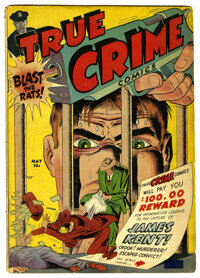 True Crime Comics #2 (Magazine Village, 1947) Condition: VG. Jack Cole cover and art. Used in Seduction of the Innocent...