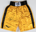 Boxing Collectibles:Autographs, Mike Tyson Signed Boxing Trunks....