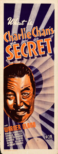 "Movie Posters:Mystery, Charlie Chan's Secret (20th Century Fox, 1936). Rolled, Fine. Australian Pre-War Daybill (15"" X 40"").. ..."