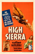 "Movie Posters:Film Noir, High Sierra (Warner Bros., 1941). Fine+ on Linen. One Sheet (27"" X 41"").. ..."