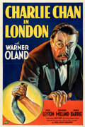 """Movie Posters:Mystery, Charlie Chan in London (Fox, 1934). Fine/Very Fine on Linen. One Sheet (27"""" X 41"""").. ..."""