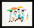 Music Memorabilia:Original Art, The Beatles Cartoon Prints (2) Including One Signed by Director Ron Campbell.... (Total: 2 Items)