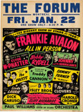Music Memorabilia:Posters, Biggest Show of Stars 1960 Concert Poster w/Frankie Avalon, Bobby Rydell & The Isley Brothers....