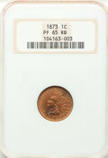 1873 1C Closed 3 PR65 Red and Brown NGC. NGC Census: (35/19). PCGS Population: (62/15). CDN: $800 Whsle. Bid for NGC/PCG...