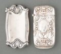 Silver & Vertu, Two Gorham Mfg. Co. Silver Match Safes, Providence, Rhode Island, late 19th-early 20th century . Marks: (lion-anchor-G), S... (Total: 2 Items)