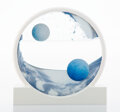 Collectible, Daniel Arsham (b. 1980). Sand Circle (Blue), 2019. Wood, sand, and glass. 10-1/4 inches (26 cm) diameter. Ed. 438/500. P...