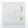 Collectible, Daniel Arsham X The Andy Warhol Museum. Eroded Brillo Box (Blue), 2020, 2020. Hydrostone with quartz crystals. 9-3/4 x 9...