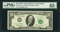 Small Size:Federal Reserve Notes, Fr. 2017-A* $10 1963A Federal Reserve Note. PMG Gem Uncirculated 65 EPQ.. ...