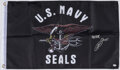Autographs:Others, Navy SEAL Robert O'Neil Signed Navy SEAL Flag....