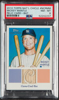 Baseball Cards:Singles (1970-Now), 2010 Topps National Chicle Mickey Mantle Bat Relic Card #NCR-MM PSA NM-MT 8....