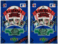 Baseball Cards:Unopened Packs/Display Boxes, 1989 Upper Deck Baseball High Number Series Wax Box Lot of Two (2) - Griffey Jr Rookie Year! ...