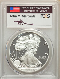 2016-W $1 Silver Eagle, Lettered Edge, 30th Anniversary, First Day of Issue - Washington D.C., Mercanti Signature, PR70...