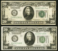 Small Size:Federal Reserve Notes, Fr. 2051-F $20 1928A Federal Reserve Note. Very Fine;. Fr. 2052-G $20 1928B Federal Reserve Note. Very Fine.. ... (Total: 2 notes)