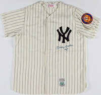 "Early 1990's Mickey Mantle Signed New York Yankees Jersey with ""No. 7"" Inscription"