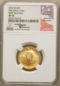 Modern Bullion Coins, 2016-W 25C Standing Liberty, Quarter-Ounce Gold, 100th Anniversary, First Releases, Mercanti Signature, SP70 NGC. NGC Cens...