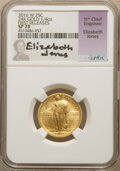 Modern Bullion Coins, 2016-W 25C Standing Liberty, Quarter-Ounce Gold, 100th Anniversary, First Releases, SP70 NGC. Elizabeth Jones Signature, 11...