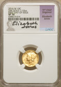 Modern Bullion Coins, 2016-W 10C Mercury Dime, Tenth-Ounce Gold, 100th Anniversary, First Day of Issue SP70 NGC. Elizabeth Jones Signature, 11th ...