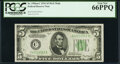 Fr. 1956-C $5 1934 Mule Federal Reserve Note. PCGS Gem New 66PPQ