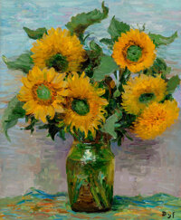 Marcel Dyf (French, 1899-1985) Tournesols (Sunflowers), 1974 Oil on canvas 28-1/2 x 23-1/2 inches