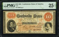 Confederate Notes:1861 Issues, T24 $10 1861 PF-7 Cr. 161 PMG Very Fine 25 EPQ.. ...