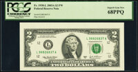Fr. 1938-L $2 2003A Federal Reserve Note. PCGS Superb Gem New 68PPQ