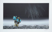 Jeff Gillette (20th Century) Meteor Shower, 2018 Archival pigment print with hand-finished acrylic e