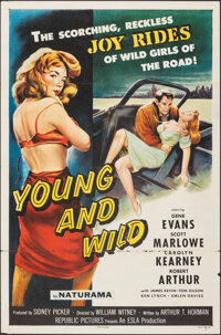 "Young and Wild (Republic, 1958). Flat Folded, Fine. One Sheet (27"" X 41""). Bad Girl"