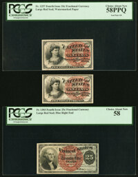 Seal Plate Numbers. Number 20 Fr. 1257 10¢ Fourth Issue PCGS Choice About New 58PPQ; Number 16 Fr