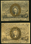 Fr. 1316 50¢ Second Issue About New; Fr. 1322 50¢ Second Issue Fine. ... (Total: 2 notes)