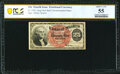Fr. 1302 25¢ Fourth Issue PCGS Banknote About Unc 55
