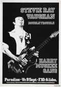 Music Memorabilia:Posters, Stevie Ray Vaughan and Double Trouble 1983 Paradiso Amsterdam Concert Poster....