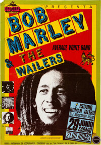 Bob Marley & the Wailers 1980 Madrid, Spain Concert Poster
