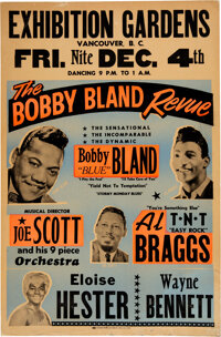 """Bobby """"Blue"""" Bland 1964 Vancouver, B.C. Concert Poster"""