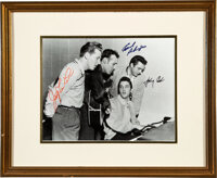 Jerry Lee Lewis/Johnny Cash/Carl Perkins Signed Photo of Historic Jam Session with Elvis
