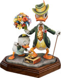 Memorabilia:Miscellaneous, Carl Barks Dude for a Day Limited Edition Donald Duck Figurine and Matching Signed Lithograph #94/100 Group of 2 (... (Total: 2 Items)