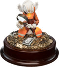 Memorabilia:Miscellaneous, Carl Barks The Expert Limited Edition Scrooge McDuck Figurine and Matching Signed Lithograph #25/25 Group of 2 (An... (Total: 2 Items)