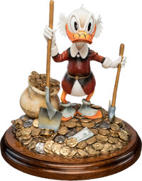Carl Barks Pick and Shovel Laborer Limited Edition Scrooge McDuck Figurine and Matching Signed Lithograph #94/100 ... (T...