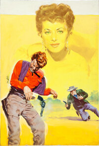 The Redhead from Wyoming by Enzo Nistri (Universal International, 1953). Very Fine+. Signed Original Italian Gouache Art...
