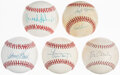 Autographs:Baseballs, Baseball Legends Single Signed Baseballs - Mays, Robinson ...